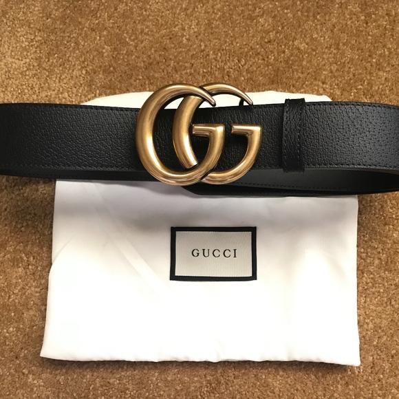 1aba24c71 Gucci Accessories | Nwt Women Double Gg Gold Brass Belt 85cm | Poshmark